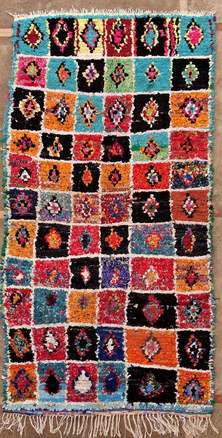 BOUCHEROUITE Boucherouite Medium moroccan rugs T49146