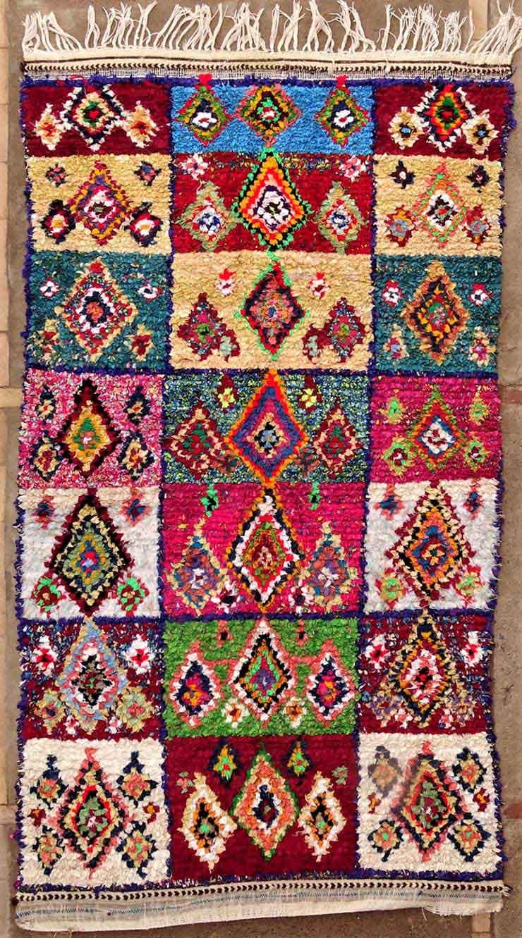 BOUCHEROUITE Boucherouite Medium moroccan rugs T49147