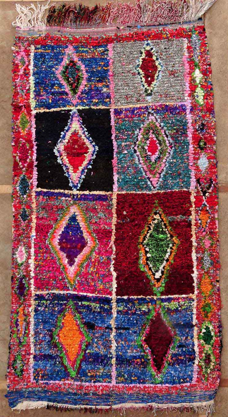 Archive-Sold Boucherouite moroccan rugs T49148