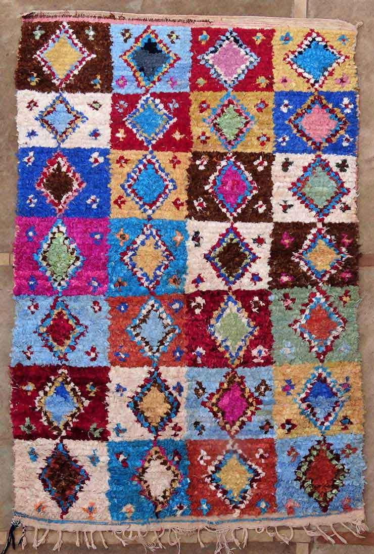 BOUCHEROUITE Boucherouite Mittlere Berber Teppich T49152