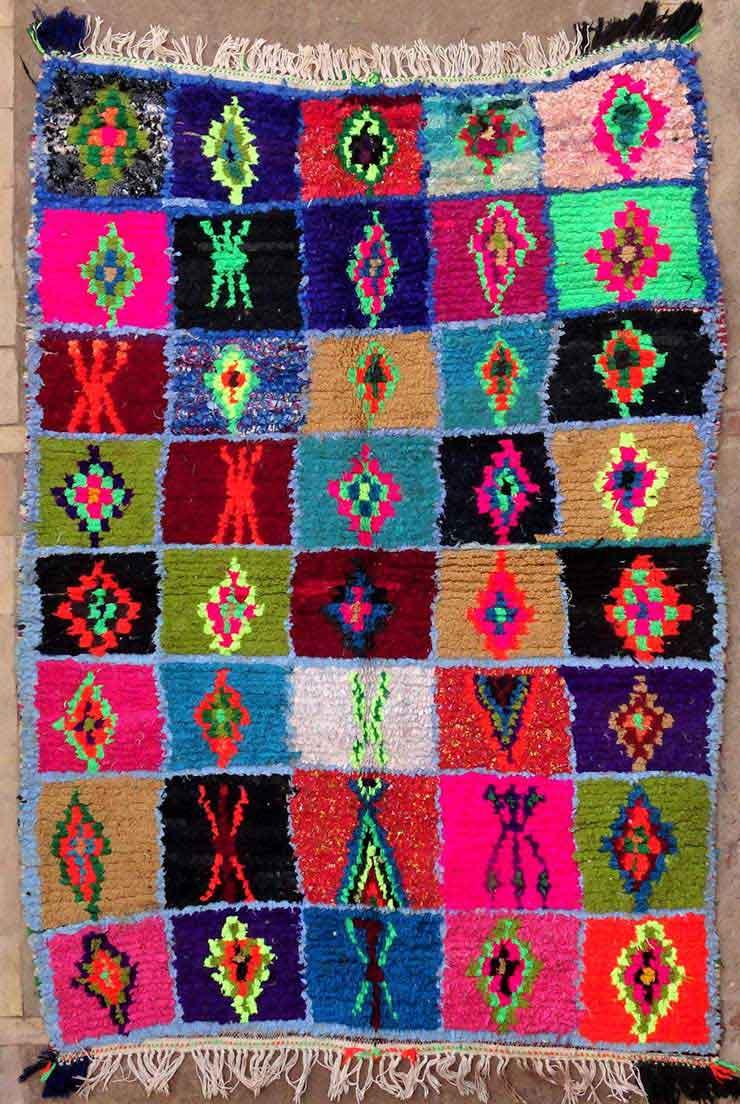 BOUCHEROUITE Boucherouite Medium moroccan rugs T49153