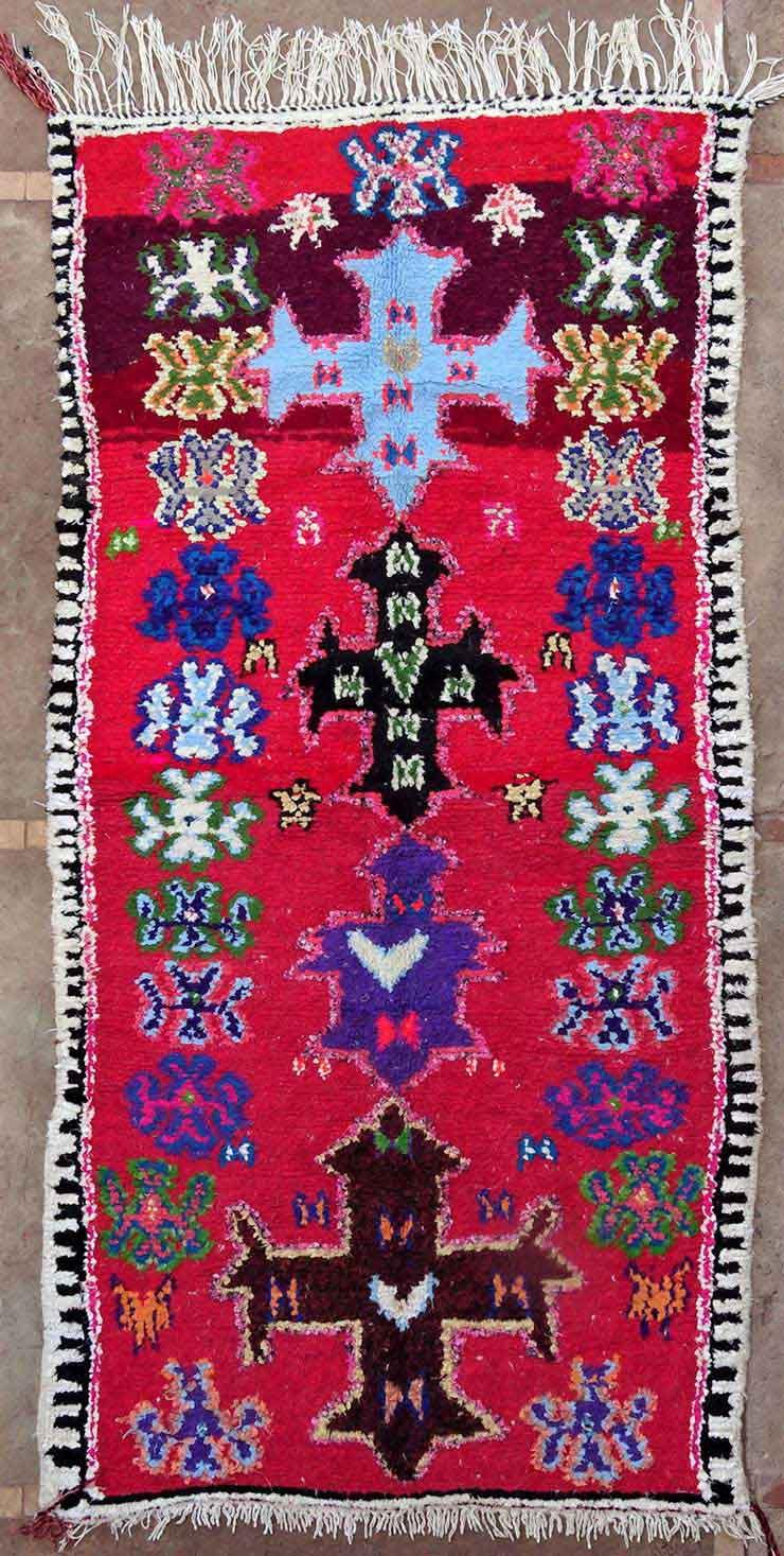 BOUCHEROUITE Boucherouite Medium moroccan rugs T49158