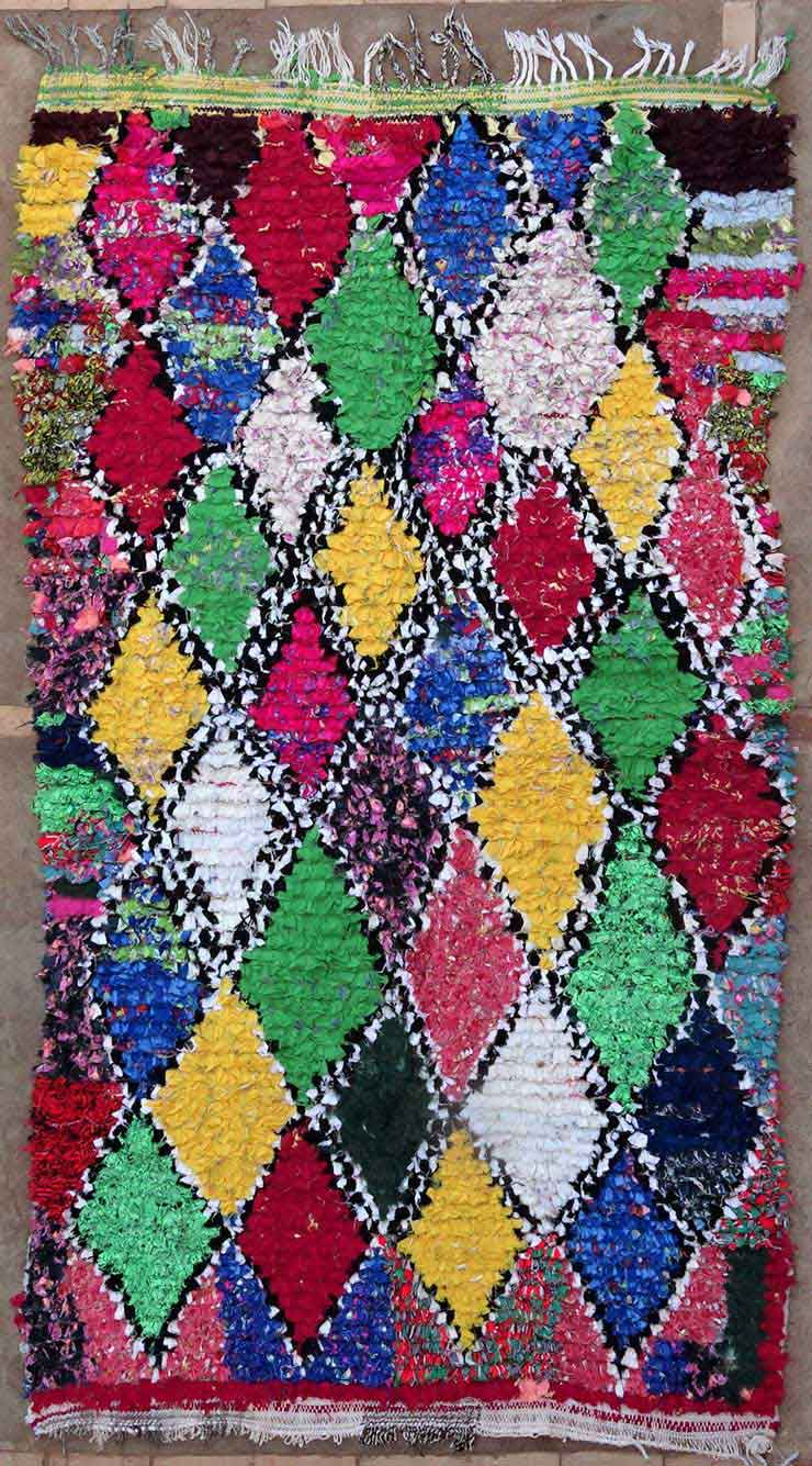 BOUCHEROUITE Boucherouite Medium moroccan rugs T49159
