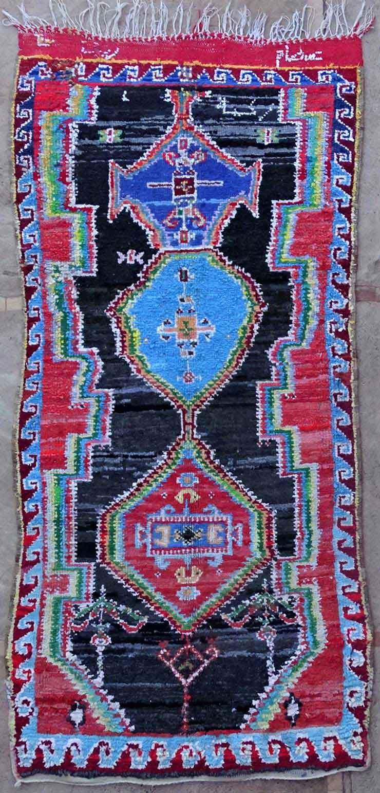 BOUCHEROUITE Boucherouite Medium moroccan rugs T49162