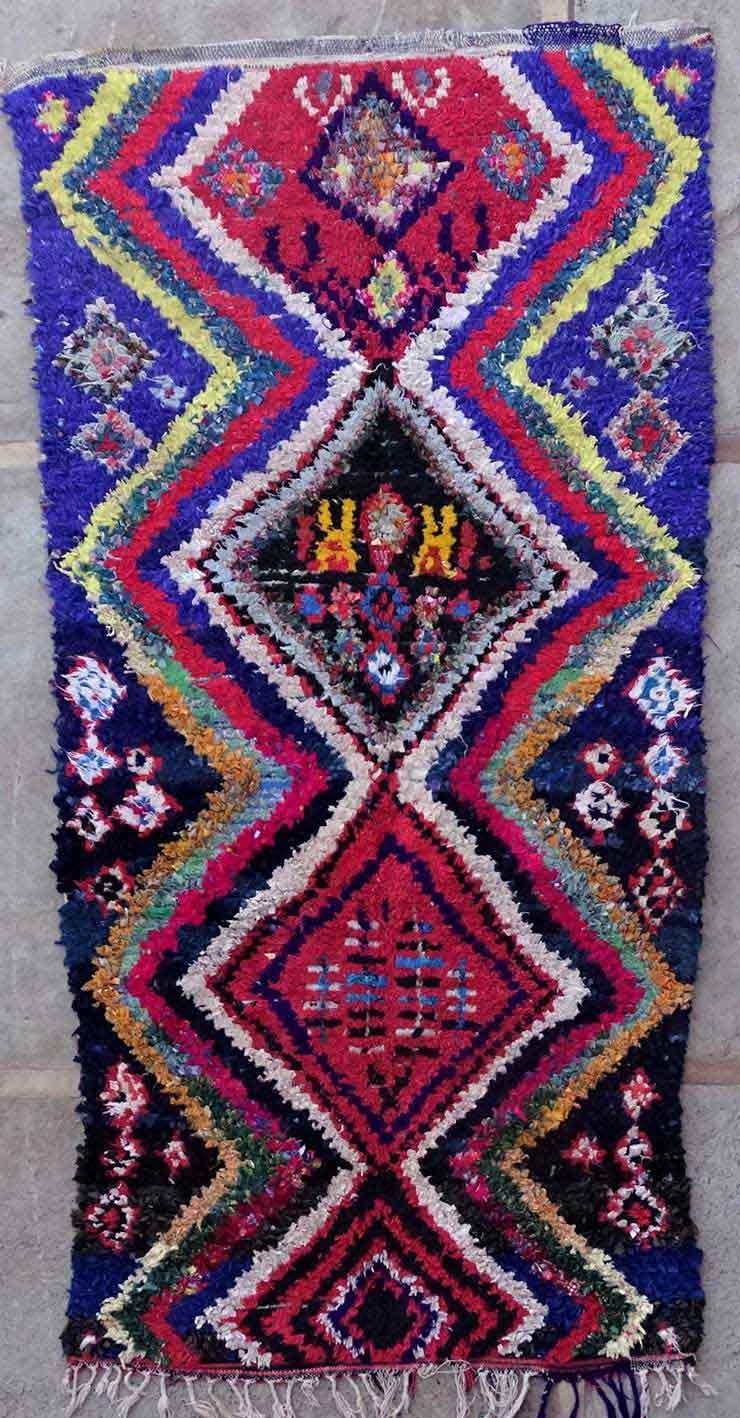 BOUCHEROUITE-KILIMS Boucherouite Mittlere Berber Teppich TC49168