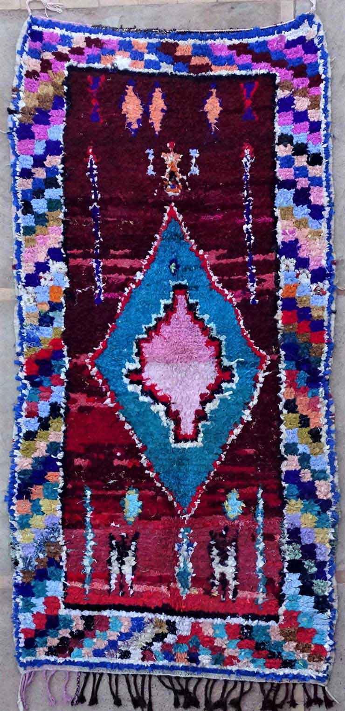 BOUCHEROUITE-KILIMS Boucherouite Grosse Berber Teppich L49170
