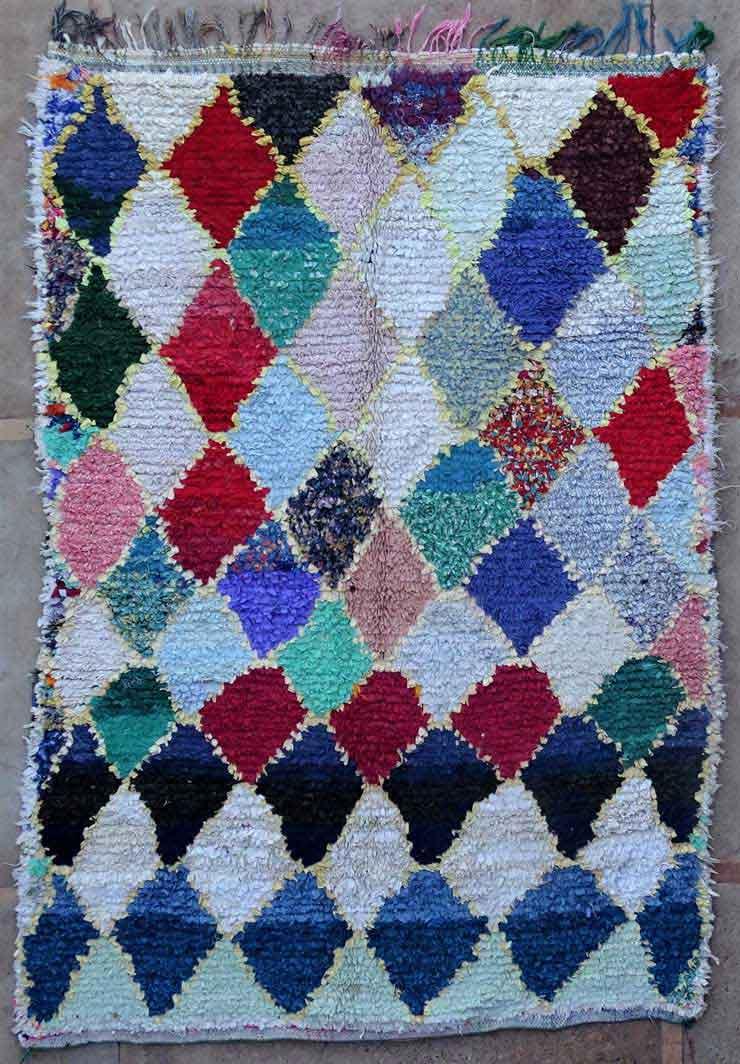 BOUCHEROUITE-KILIMS Boucherouite Grosse Berber Teppich L49171