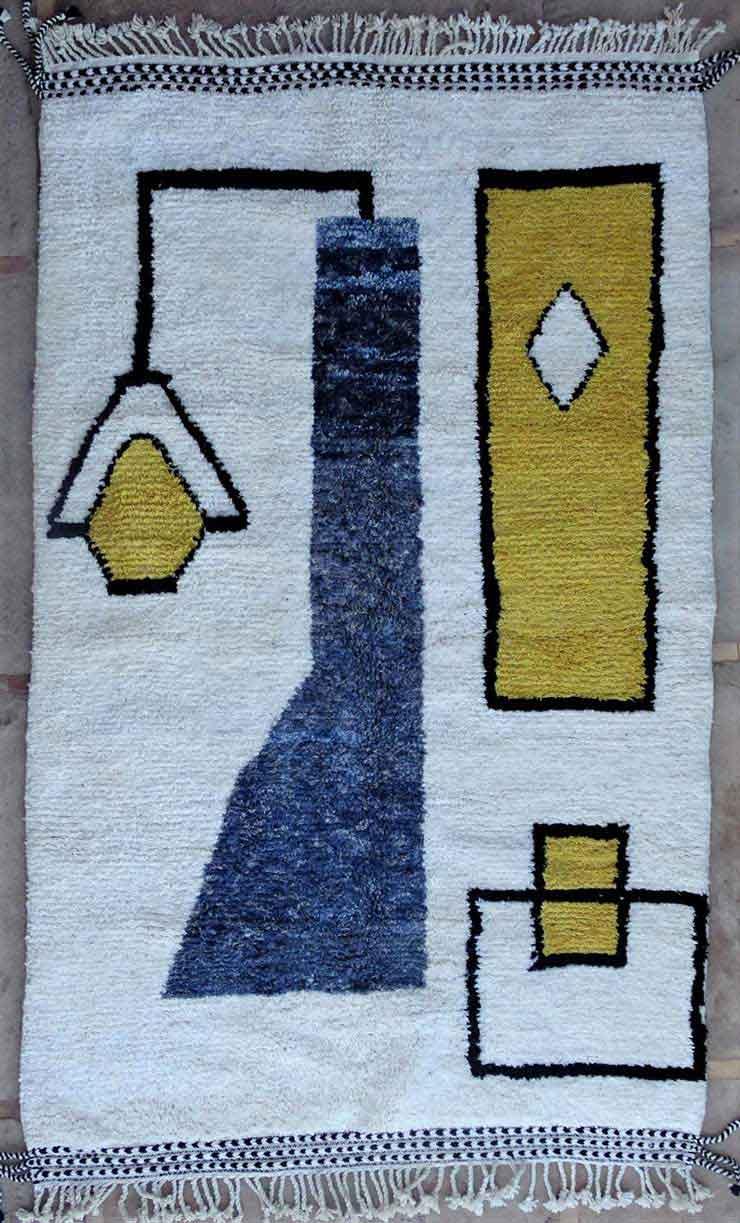 BENI OURAIN-WOOL RUGS  moroccan rugs BO49174/MA
