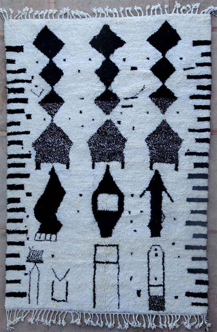 BENI OURAIN-WOOL RUGS Beni Ourain moroccan rugs BO49175/MA