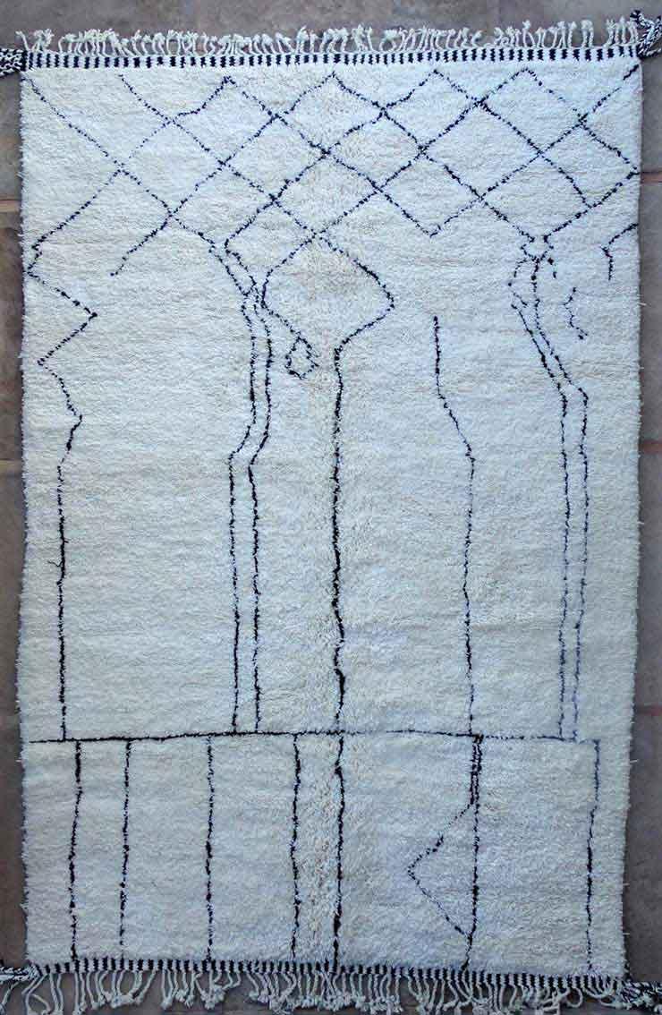 WOOL Rugs - BENI OURAIN Beni Ourain moroccan rugs BO49177/MA