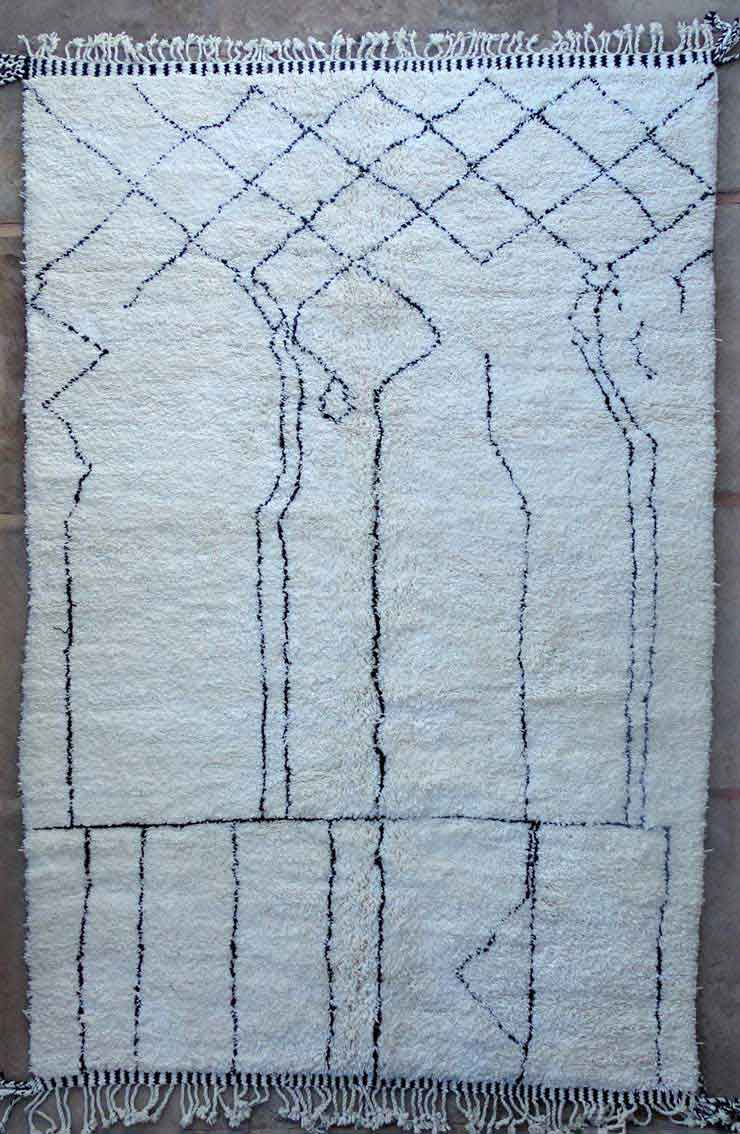 BENI OURAIN-WOLLTEPPICHE Beni Ourain Berber Teppich BO49177/MA