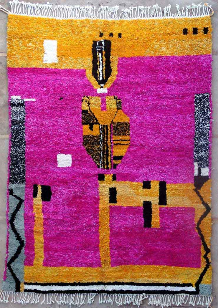 BENI OURAIN-WOOL RUGS Beni Ourain Large sizes moroccan rugs BO49178/MA