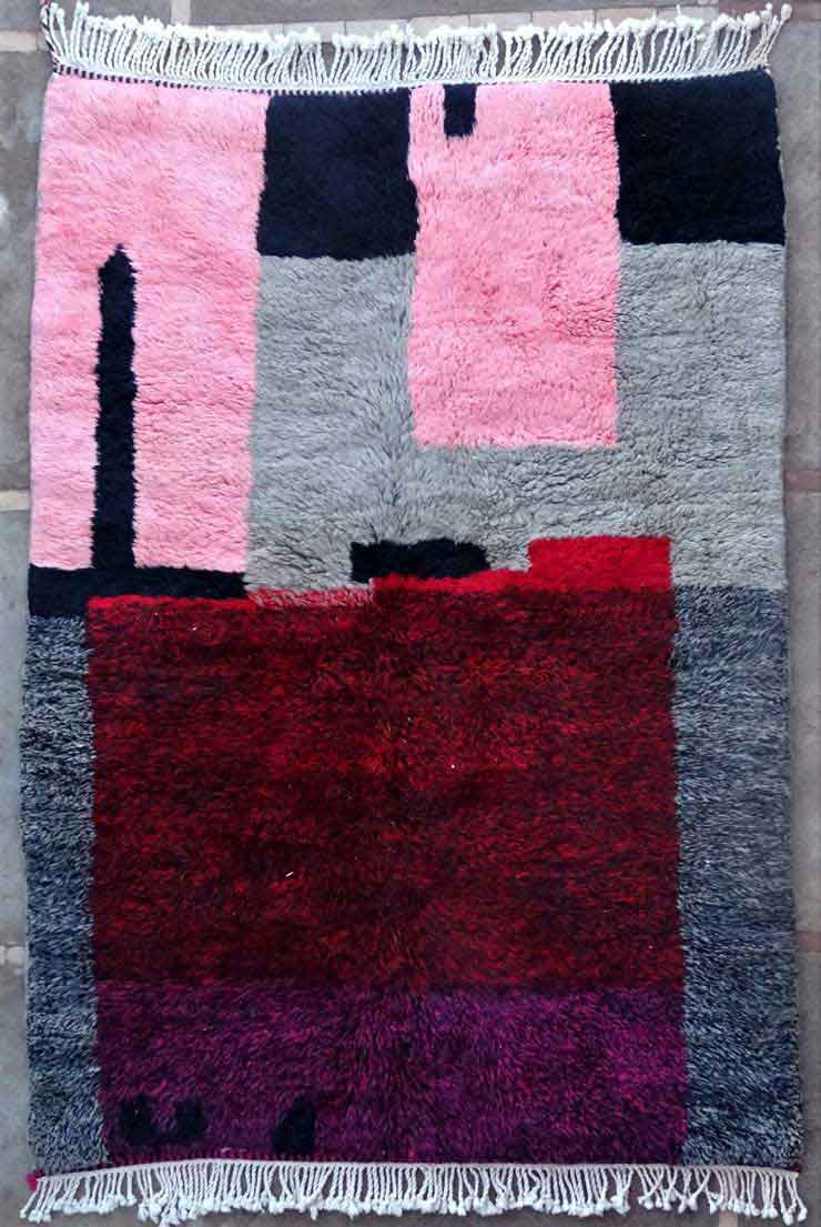 BENI OURAIN-WOOL RUGS Beni Ourain and Boujaad with colors moroccan rugs MR49185