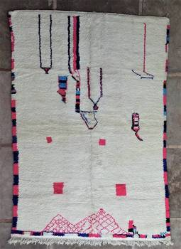 BENI OURAIN-WOLLTEPPICHE Beni Ourain Teppich BO46198