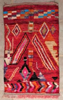 BENI OURAIN-WOOL RUGS Beni Ourain and Boujaad with colors ref : BJ47235