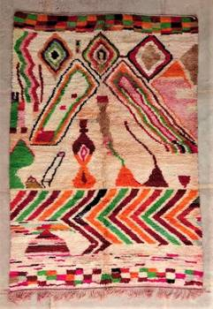 BENI OURAIN-WOOL RUGS Beni Ourain and Boujaad with colors ref : BJ47236