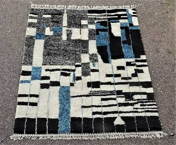 BENI OURAIN-WOOL RUGS Beni Ourain Large sizes moroccan rugs BO48502