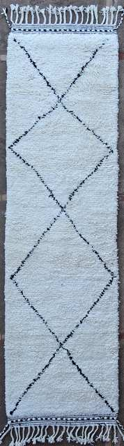 BENI OURAIN-WOLLTEPPICHE Korridor Wollteppiche Teppich BO51001/MA