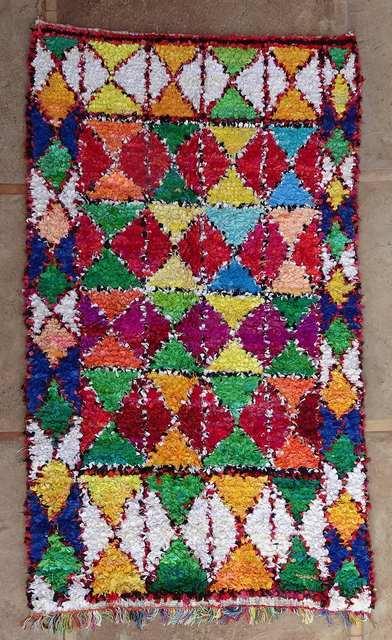 BOUCHEROUITE-KILIMS Boucherouite Grosse Berber Teppich L51009