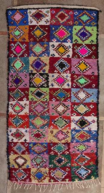 BOUCHEROUITE Boucherouite Medium moroccan rugs TC51012
