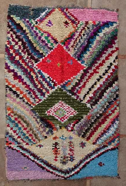 BOUCHEROUITE Boucherouite Grosse Berber Teppich TC51015