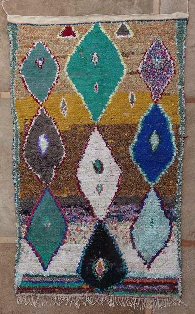 Archive-Sold Boucherouite moroccan rugs TC51017 HEIDI