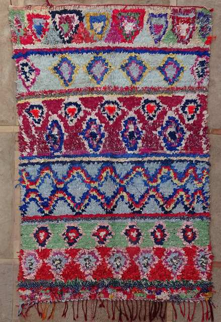 BOUCHEROUITE-KILIMS Boucherouite Grosse Berber Teppich L51026