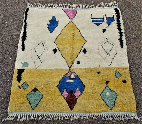 BENI OURAIN-WOOL RUGS Beni Ourain Large sizes ref : BO48503