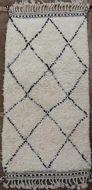 BENI OURAIN-WOOL RUGS Beni Ourain moroccan rugs BO51054