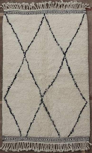 BENI OURAIN-WOOL RUGS Beni Ourain moroccan rugs BO51058