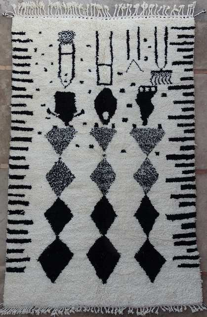 BENI OURAIN-WOLLTEPPICHE Beni Ourain Teppich BO51068