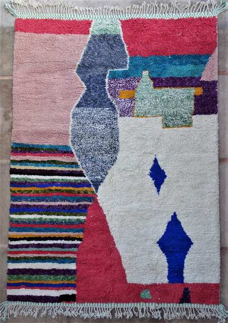 BENI OURAIN-WOOL RUGS Beni Ourain Large sizes ref : BO51051