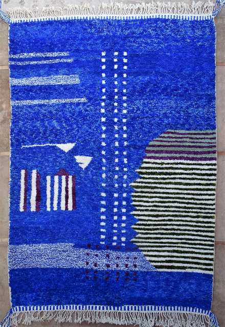 BENI OURAIN-WOOL RUGS Beni Ourain Large sizes moroccan rugs BO51052