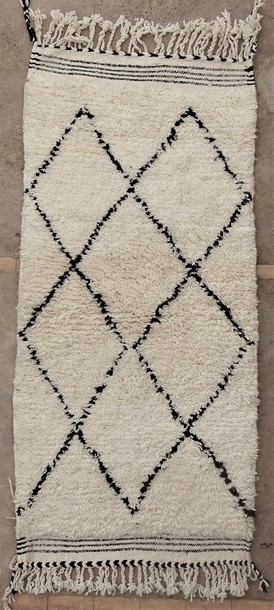 BENI OURAIN-WOOL RUGS Hallway runner wool rugs moroccan rugs BO51115