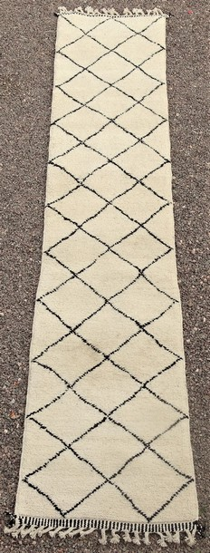 BENI OURAIN-WOOL RUGS Beni Ourain Large sizes ref : BO51122