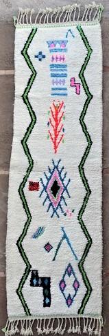 BENI OURAIN-WOOL RUGS Hallway runner wool rugs moroccan rugs BO51148