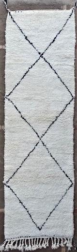BENI OURAIN-WOOL RUGS Hallway runner wool rugs moroccan rugs BO51160