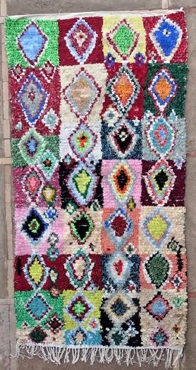 BOUCHEROUITE-KILIMS Boucherouite Grosse Berber Teppich L51168