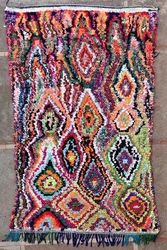 BOUCHEROUITE-KILIMS Boucherouite Grosse Berber Teppich TC51169