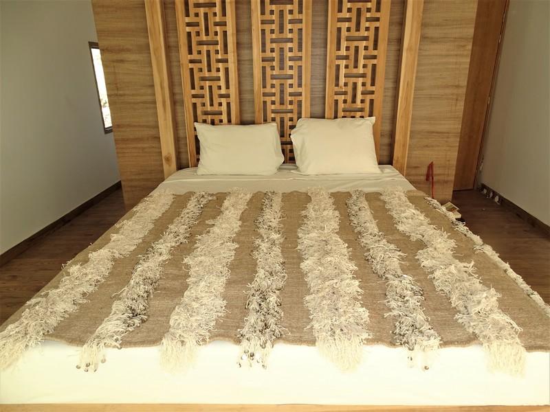 moroccan rugs Couverture de mariage BEIGE  fonçé WBE1