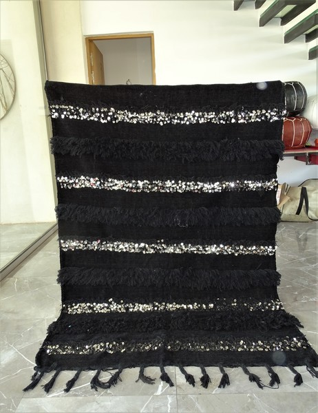 AZILAL-ZANAFI Wedding blankets ref : Wedding blanket BLACK WBK1