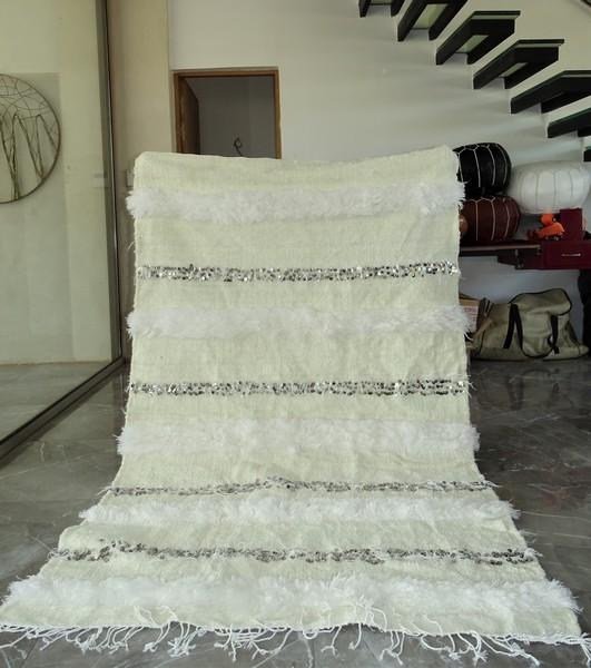 AZILAL-ZANAFI Hochzeit Decken  Teppich Wedding blanket WHITE  WB1