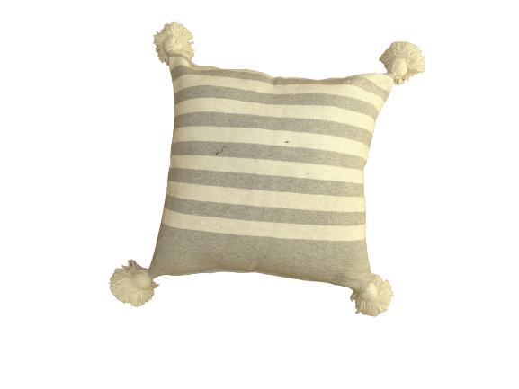Cushions-Blankets Plaids-Bedspreads-Poufs Cotton cushions and pompons moroccan rugs Cushion with pompoms REF M1
