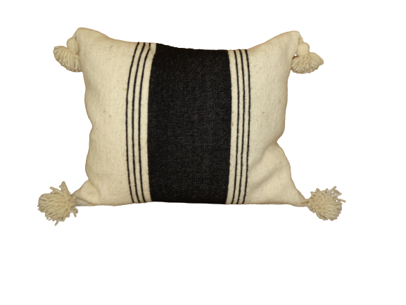 Cushions-Blankets Plaids-Bedspreads-Poufs Cotton cushions and pompons moroccan rugs Cushion  wool  with pompons REF T1