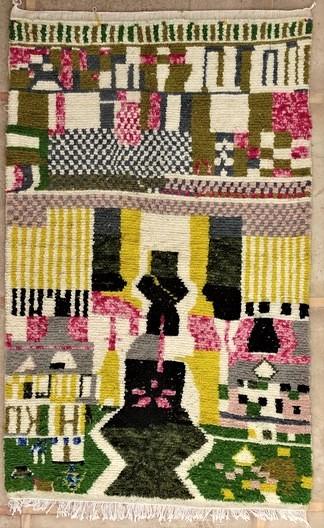 AZILAL-ZANAFI Modern design Azilal moroccan rugs AZM51238