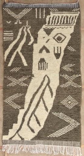 AZILAL-ZANAFI Modern design Azilal moroccan rugs AZM51240