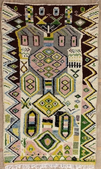 AZILAL-ZANAFI Modern design Azilal moroccan rugs AZM51244