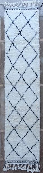 BENI OURAIN-WOOL RUGS Hallway runner wool rugs moroccan rugs BO51257