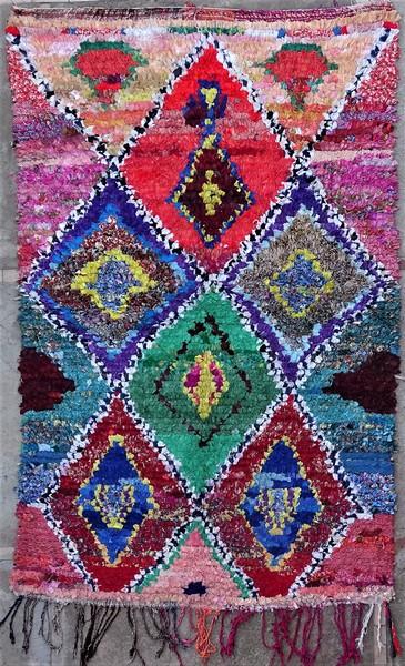 BOUCHEROUITE-KILIMS Boucherouite Grosse Berber Teppich TC51274