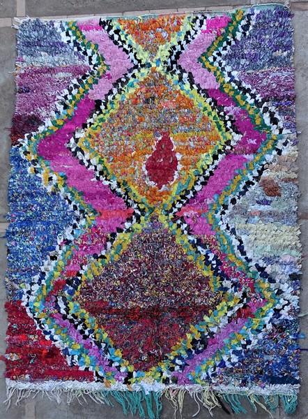 BOUCHEROUITE-KILIMS Boucherouite Mittlere Berber Teppich TC51278